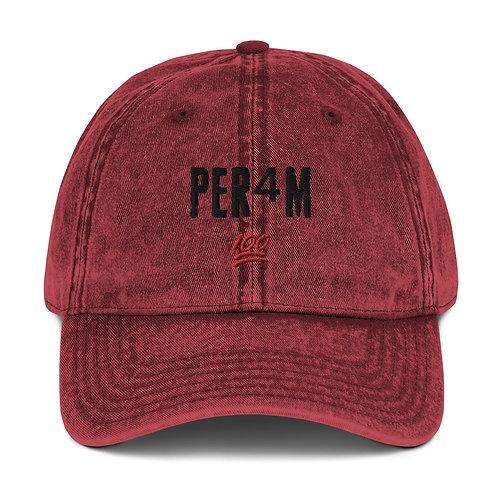 LUSU Designs Vintage Cotton Twill Cap Collection PER4M Label II