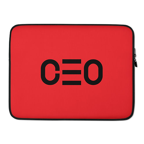 LUSU Designs Laptop Sleeve Collection CEO Noir Label Red
