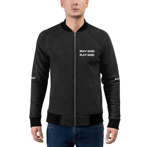 LUSU Designs Bomber Jacket Collection Pray Hard Play Hard 2 Blanco Label III