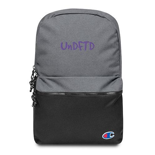 LUSU Designs Embroidered Champion Backpack UnDFTD Purple Label