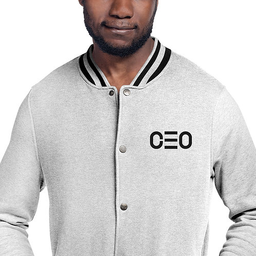 LUSU Designs Embroidered Bomber Jacket Collection CEO Black Label