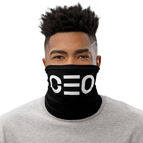 LUSU Designs Neck Gaiter CEO Blanco Label