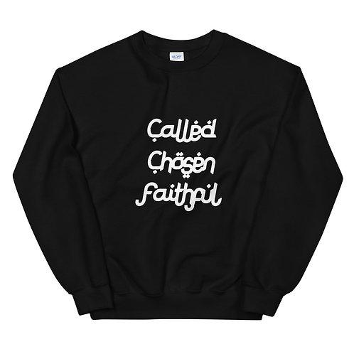LUSU Designs Unisex Sweatshirt Collection Called Chosen Faithful Blanco Label