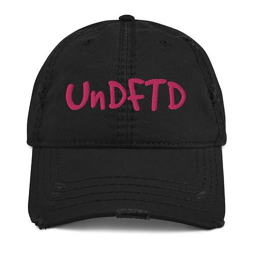 LUSU Designs Distressed Dad Hat Collection UnDFTD Flamingo Label