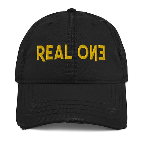 LUSU Designs Distressed Dad Hat Collection Real One Midas Label