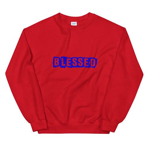 LUSU Designs Unisex Sweatshirt Collection Blessed Royal Label