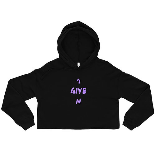 LUSU Designs Crop Hoodie Collection 4GIVEN Purple Label