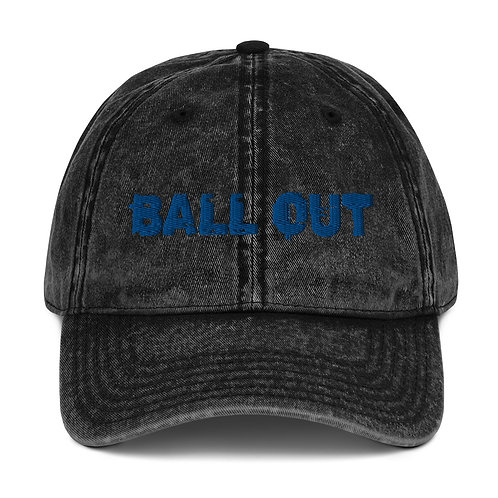 LUSU Designs Vintage Cotton Twill Cap Collection Ball Out Royal Label