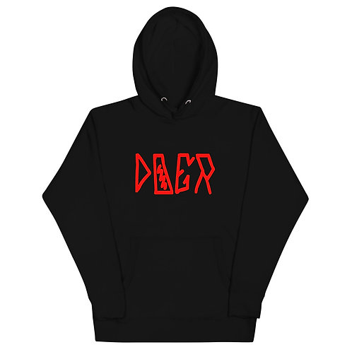 LUSU Designs Unisex Hoodie Collection Doer Fire Label I