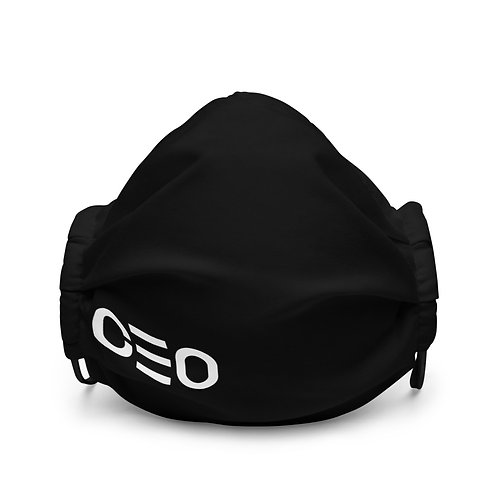 LUSU Designs Premium Face Mask CEO Blanco Label II