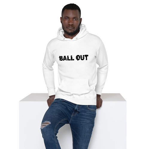 LUSU Designs Unisex Hoodie Collection Ball Out Noir Label I