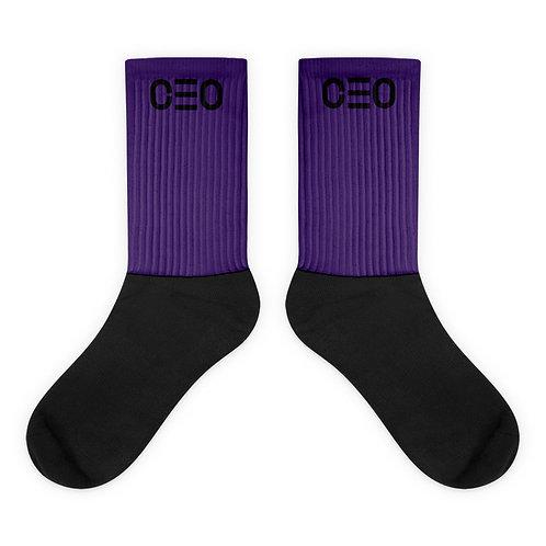 LUSU Designs Sock Collection CEO Noir Label Purple