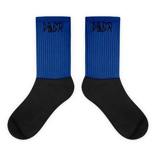 LUSU Designs Sock Collection Doer Noir Label Blue