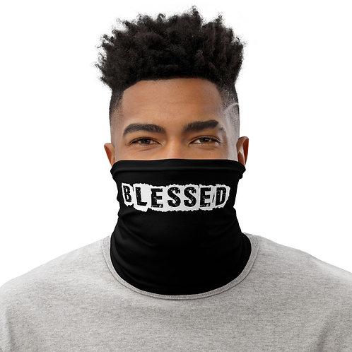 LUSU Designs Neck Gaiter Blessed Blanco Label