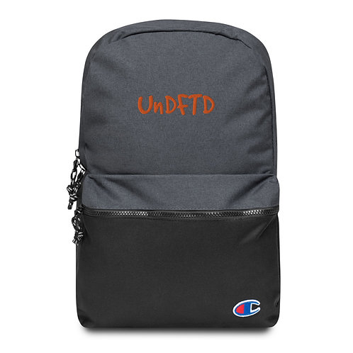 LUSU Designs Embroidered Champion Backpack UnDFTD Tangerine Label