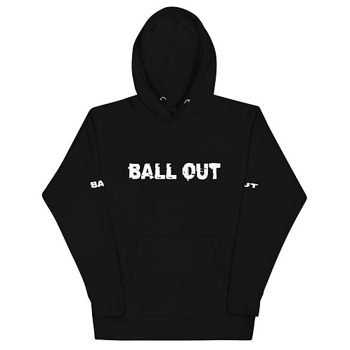 LUSU Designs Unisex Hoodie Collection Ball Out Blanco Label II
