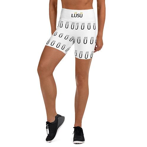 LUSUDesigns Yoga Shorts Collection Logo Noir Label