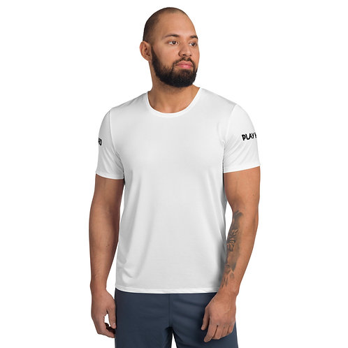 LUSU Designs Men's Athletic MaxDri T-shirt Pray Hard Play Hard Noir Label III