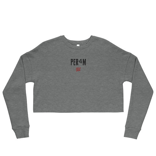 LUSU Designs Crop Sweatshirt Collection PER4M Fire Label II
