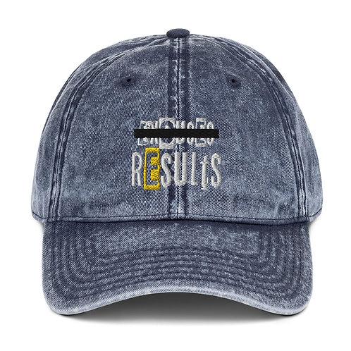 LUSU Designs Vintage Cotton Twill Cap Results Label III