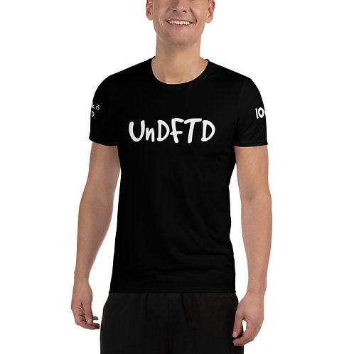 LUSU Designs Men's Athletic T-shirt UnDFTD Blanco Label II