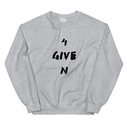 LUSU Designs Unisex Sweatshirt Collection 4GIVEN Noir Label