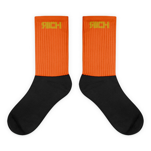 LUSU Designs Sock Collection RICH Midas Label Orange