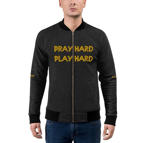 LUSU Designs Bomber Jacket Collection Pray Hard Play Hard 2 Midas Label II