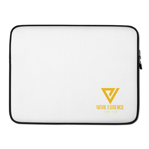 LUSU Designs Laptop Sleeve Collection Vital Essence Label White II