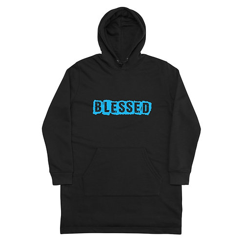 LUSU Designs Hoodie Dress Collection Blessed Azure Label