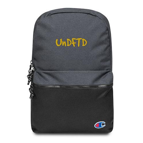 LUSU Designs Embroidered Champion Backpack UnDFTD Midas Label