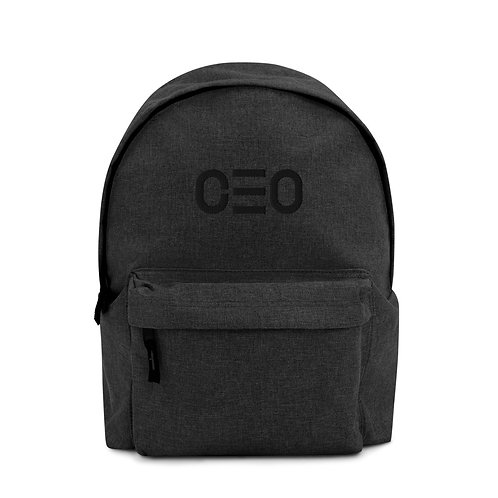 LUSU Designs Embroidered Backpack Collection CEO Noir Label