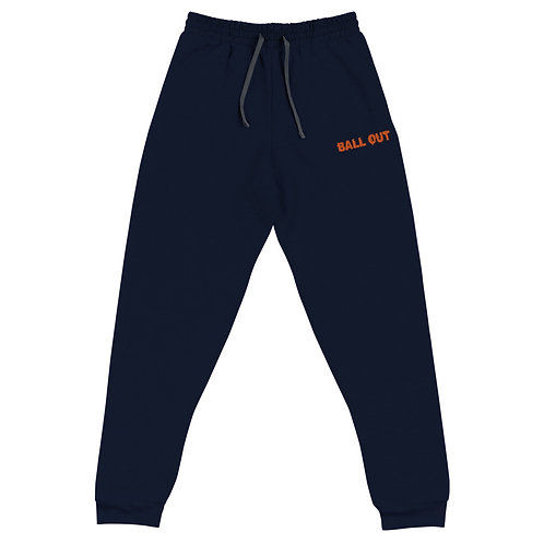 LUSU Designs Unisex Joggers Collection Ball Out Tangerine Label I