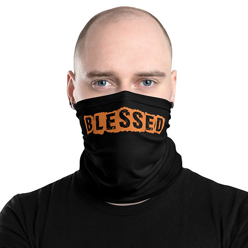 LUSU Designs Neck Gaiter Blessed Tangerine Label