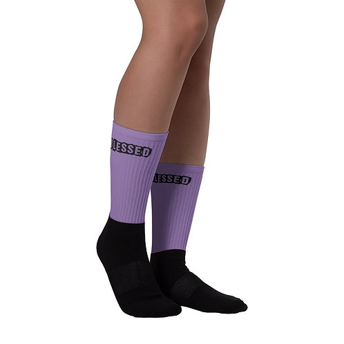 LUSU Designs Sock Collection Blessed Noir Label Lt Purple