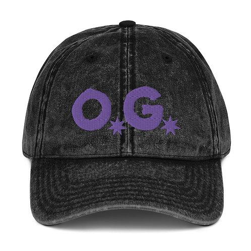 LUSU Designs Vintage Cotton Twill Cap Collection OG Purple Label