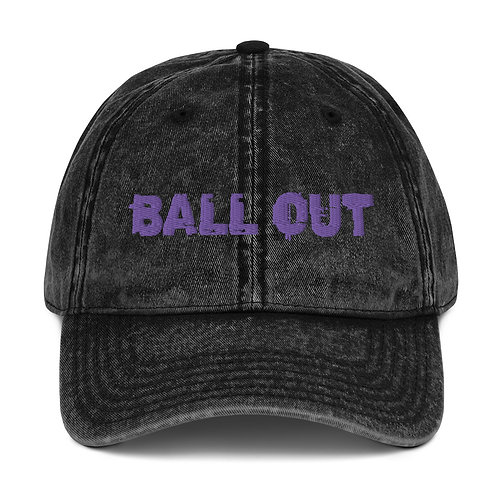 LUSU Designs Vintage Cotton Twill Cap Collection Ball Out Purple Label