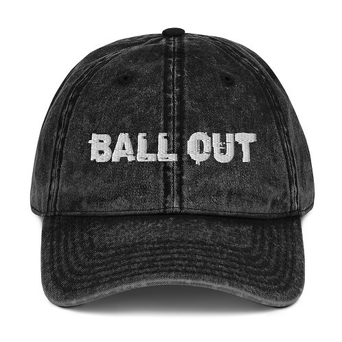LUSU Designs Vintage Cotton Twill Cap Collection Ball Out Blanco Label