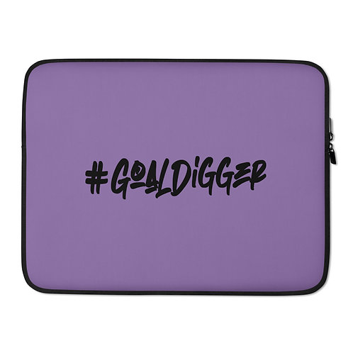 LUSU Designs Laptop Sleeve Collection Goaldigger Noir Label Lt Purple