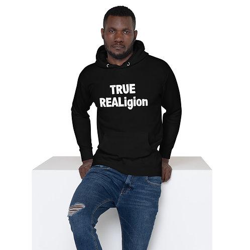 LUSU Designs Unisex Hoodie Collection True REALigion Blanco Label I