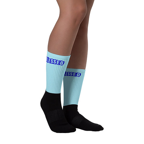 LUSU Designs Sock Collection Blessed Combo Label True Blue II