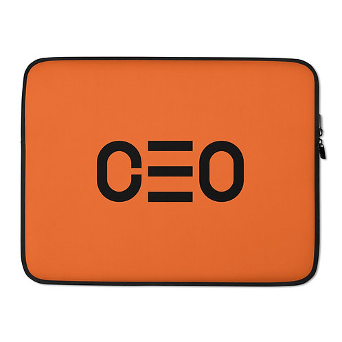 LUSU Designs Laptop Sleeve Collection CEO Noir Label Orange