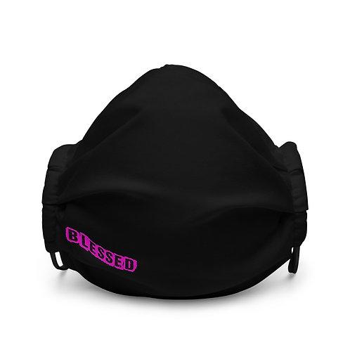 LUSU Designs Premium Face Mask Blessed Flamingo Label II