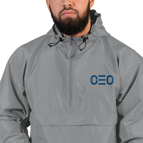 LUSU Designs Embroidered Packable Jacket Collection CEO Royal Label