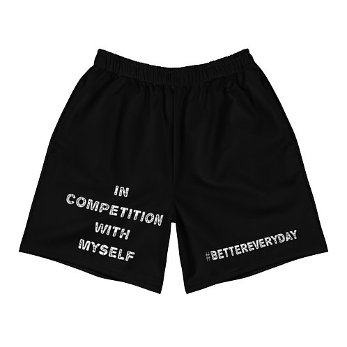LUSU Designs Men's Athletic Shorts Collection Better Everyday Blanco Label II