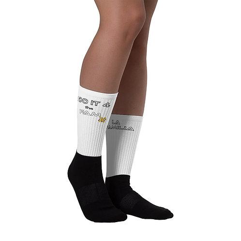 LUSU Designs Sock Collection La Familia Label White II