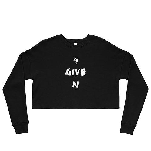 LUSU Designs Crop Sweatshirt Collection 4GIVEN Blanco Label