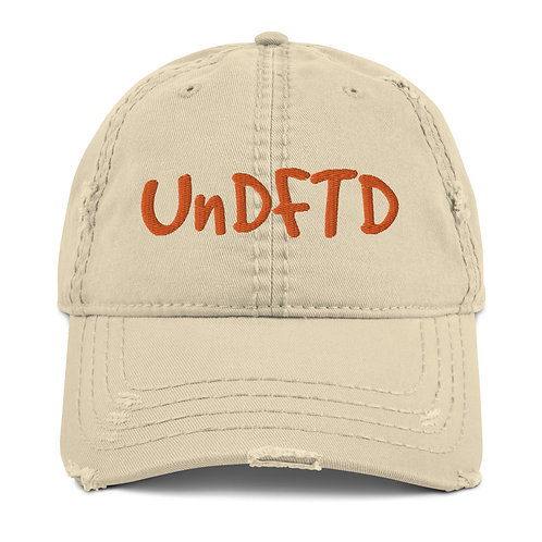LUSU Designs Distressed Dad Hat Collection UnDFTD Mandarin Label