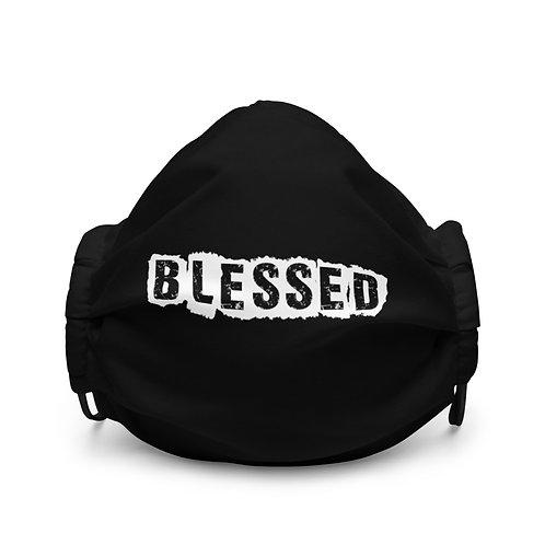 LUSU Designs Premium Face Mask Blessed Blanco Label I