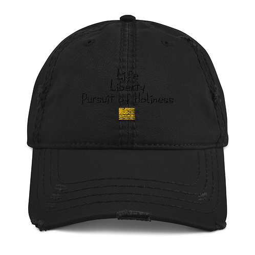 LUSU Designs Distressed Dad Hat Collection Pursuit of Holiness Noir Label